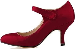 Melady Women Classic Mary Janes Pumps Kitten Heels