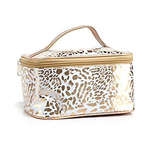 Waterproof Leopard Cosmetic Bag For Women Make Up Case Travel Clear Makeup Beauty Wash Organizer Bath Toiletry Storage Kit 1  19*12*10cm