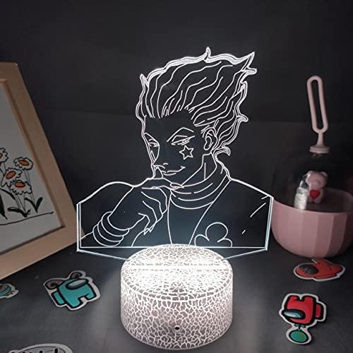 Anime Hunter X Hunter lámpara 3D RGB LED luces de noche Figura Hisoka regalo creativo fresco para amigo dormitorio lava lámpara HXH escritorio decoración