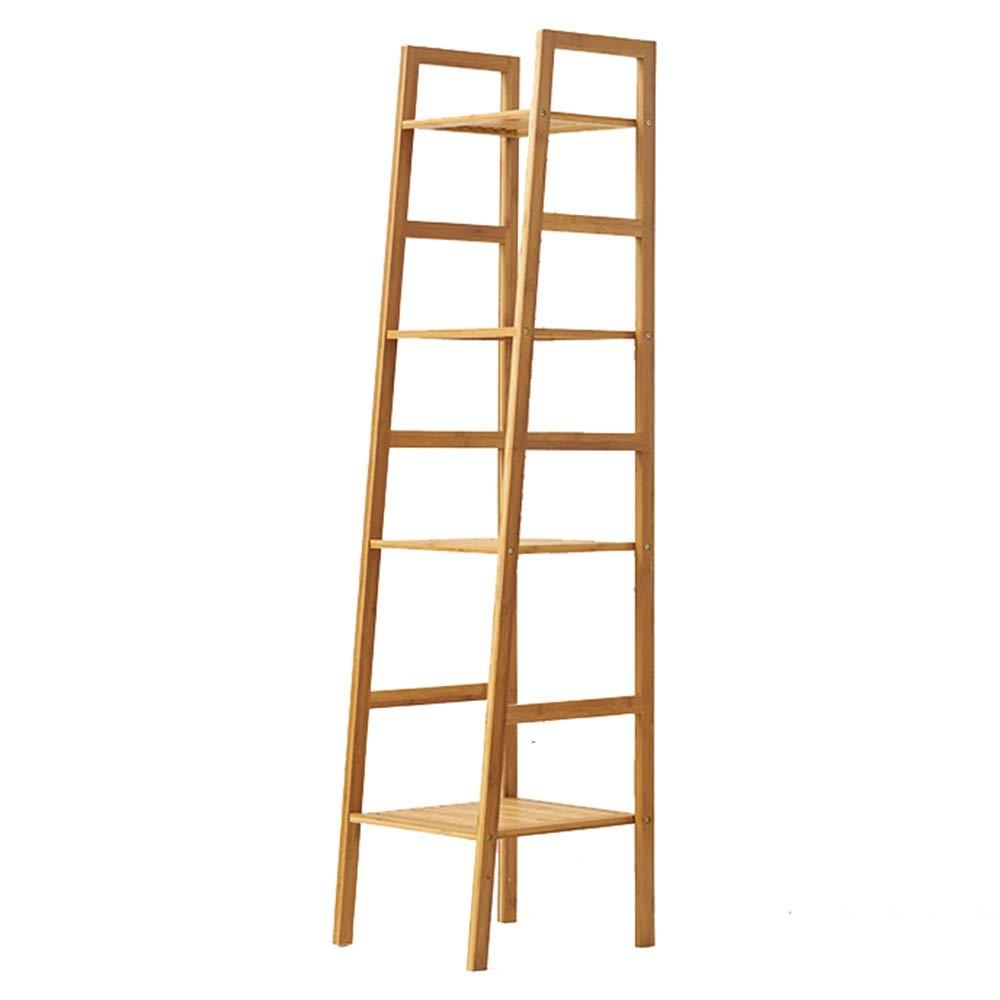 Estantería- librería de Madera 4 Shelf Bookcase multifuncional de escalera en forma de flor de la planta del estante del soporte Estantes Porta Libros de almacenamiento (148.5x40x35cm) para Sala de Es: Amazon.es: