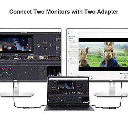 CableCreation USB C auf DP Adapter, USB Typ C auf DisplayPort Konverter 4K/60Hz, kompatibel mit MacBook Pro 2020, iPad Pro 2020, Surface Book 2, Dell XPS 15, Galaxy S20, S10, Aluminium