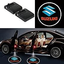 Bearfire 2 Pcs Wireless Car Door Led Welcome Laser Projector Logo Light Ghost Shadow Light Lamp Logos (suzuki)