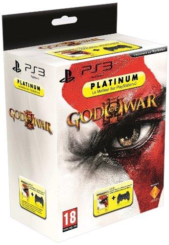 Manette PS3 Dual Shock 3 - noire + God of war 3 - platinum