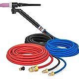 CK FL250 Water Cooled TIG Torch Kit, Flex-Loc, 250A, 25', 3-Pc, Super-Flex,FL2525SF