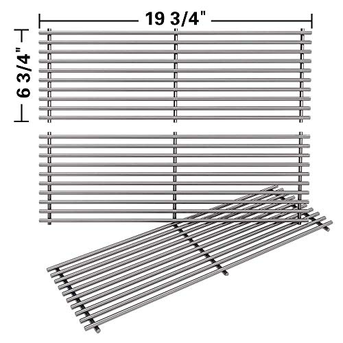 SHINESTAR Grill Grates for Char Griller Duo 5050 5650 5072 Gas Grill, for 2121 2823 2828 Charcoal Smoker Grill Parts, Stainless Steel Cooking Grates