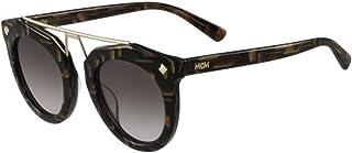 MCM Unisex Sunglasses, Cateye, Diamonds & Studs - Striped Khaki