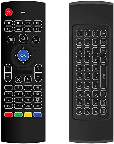 LAION MX3 2.4G con BACKLIGHT teclado retroiluminado Air Mouse mando a distancia para TV Box Computer Smart TV Giroscopio Un 3 ejes acelerador Un 3 ejes