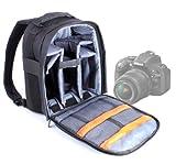 DURAGADGET Mochila Ajustable con Compartimentos para Cámara Nikon D5200/ D5300 /D5100 + Funda Impermeable Fotografiar Bajo La Lluvia!
