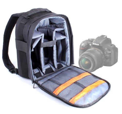 DURAGADGET Mochila + Funda Impermeable para SLR Réflex Nikon D3200   D7100   D5200 - con Compartimentos Desmontables