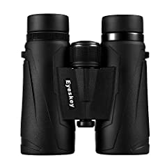 POWERFUL BINOCULARS - Full 10x magnification, 42mm objective lens diameter, more clear and more brilliant field of view. FULLY MULTI-COATED eco-glass lenses and phase correction coated BaK-4 prism provide a high light transmittance across the entire ...