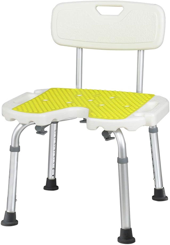 Qing MEI Old Man Bathing Chair Bathroom Stool Slip Elderly Disabled Shower Chair Bathing Bath Chair Pregnant Woman Bath Stool A++ (color   B)