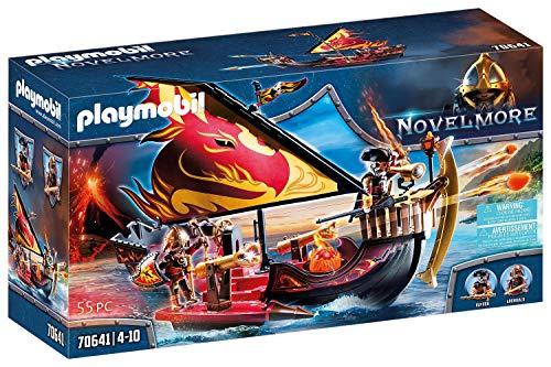 PLAYMOBIL Novelmore 70641 Burnham Raiders Feuerschiff, Schwimmfähig,...