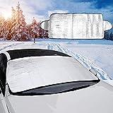 Sonne 187*95cm EIS Frost opamoo Auto Scheibenabdeckung Windschutzscheibe Abdeckung Faltbare Abnehmbare Winterabdeckung Frontscheibe Abdeckung Auto Frostabdeckung Anti Schnee Frontscheibenabdeckung
