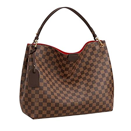 Fashion Shopping Louis Vuitton Damier Ebene Graceful MM Tote Handbag Article:N44045