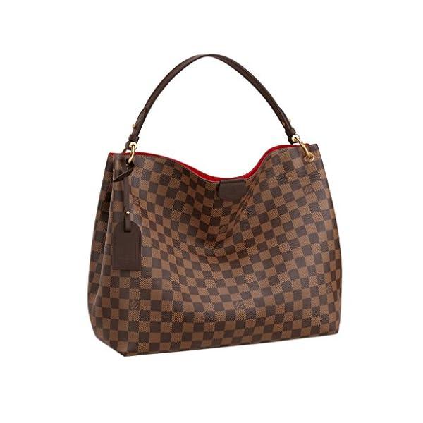 Fashion Shopping Louis Vuitton Damier Ebene Graceful MM Tote Handbag Article:N44045