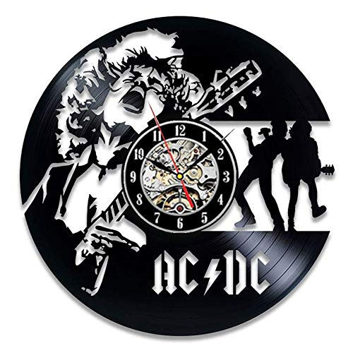 xcvbxcvb AC DC Vinyl Record Wall Clock Modern Design Music Rock Band Retro Vinyl CD Clock Watch Wall Watch Home Decor Gift For Fans