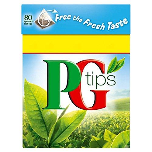 PG Tips - Té - 80 bolsitas - Pack de 4 unidades