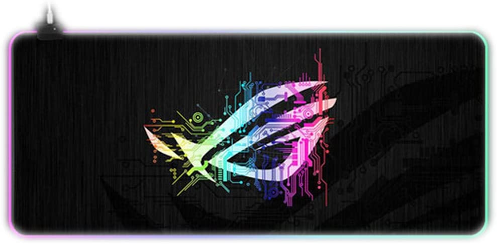 Custom Large Gaming RGB ASUS Mouse Pad Gamer XXL Keyboard Rubber MousePad USB Wired LED Big Backlight Computer Desk Mouse Mat-Sky Blue_400x900x4mm