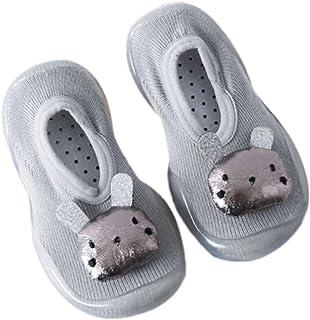 Calcetines Primeros pasos bebe Antideslizantes Suela silicona Princesa Lindo Recien nacido Primeros pasos bebe Calzado