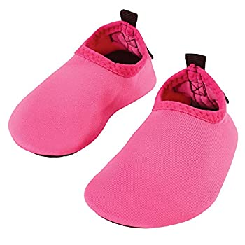 Hudson Baby Infant Kids and Adult Water Shoes for Sports Yoga Beach and Outdoors Hot Pink 1-2 Infant