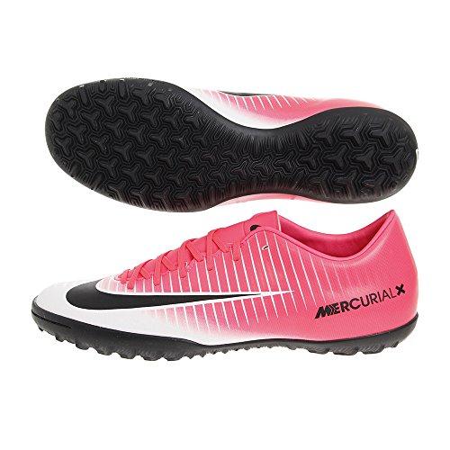 Nike Mercurial x Victory vi TF 831968601, sneaker unisex adulto, (Racer Pink White Black 601), 39 EU