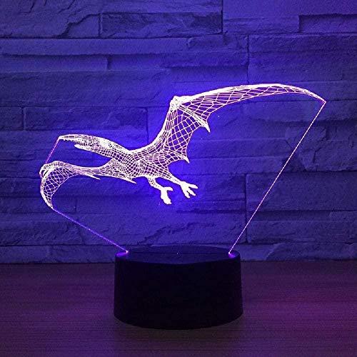 Flying Dinosaurier Drache Anime 3D Illusion LED Nachtlicht Tischlampe Stimmungslampe für Schlafzimmer Dekoration Geschenk für Kinder