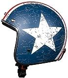 BHR Retro' 711 94043 Casco Demi-Jet da uomo, XS, Multicolore (Star Opaco)