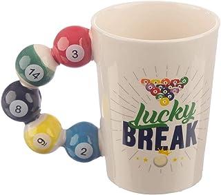 Taza de cerámica de billar, regalo deportivo personalizado, mango de billar, taza de café, taza de té-billar_401-500ml