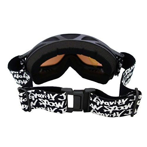 『SPOON ユニセックス スキーゴーグル ヘルメット対応可 球面レンズ ダブルレンズ メンズ レディース 男女共用』の4枚目の画像