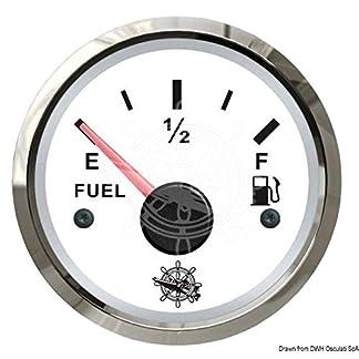 Osculati-Treibstoffstandsanzeige-24033-Ohm-weisspoliert