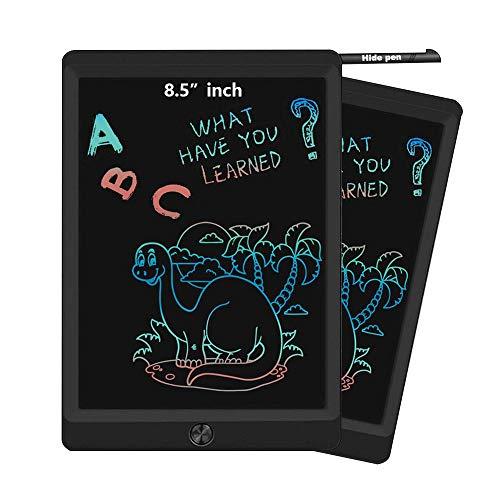 Tableta de escritura LCD de 8,5 colores, bloc de notas, digital Writer, regalo para estudiantes empleados de oficina, enseñar a los niños, aprender, trabajar, arañar, dibujar (negro)
