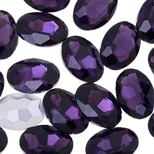 18x25mm hoge kwaliteit Ovale strass kristal steen decoratie puntige bodem boor sieraden, puntige rug, verkocht 50 stks/partij