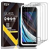 EGV iPhone SE 2020、SE 2020 9H HDクリア強化ガラス [傷防止] [ケースフレンドリー] [アライメントフレーム簡単取り付け] [気泡フリー]
