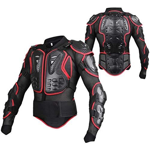 Motorrad Schutz Jacke Pro Motocross ATV Protektorenjacke mit Rückenprotektor Motorradjacke Schutzjacke Full Body Armor Schutzkleidung für Damen und Herren Scooter MTB Enduro