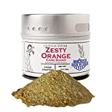 Zesty Orange Cane Sugar - Artisanal Infused Sugar - Gourmet 1:1 Replacement For Plain Processed...