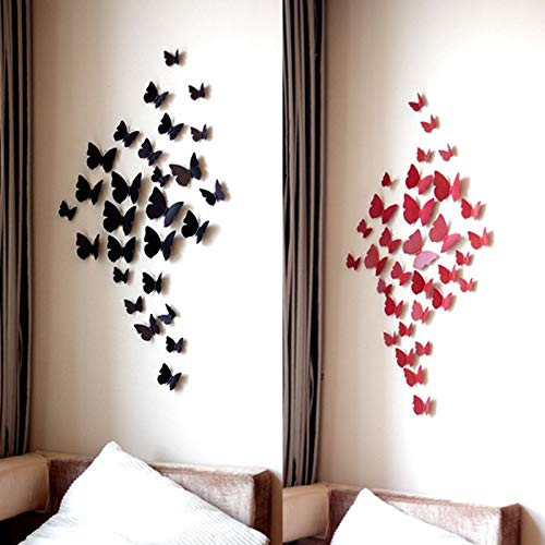 12 Pcs 3D Wall Stickers Butterfly Fridge Magnet for Home Decoration Wall Stickers Wall-papers New Stranger Things