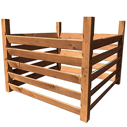 "Holz Kompostsilo""BIO"" - Komposter mit Zuganker 100x100x80cm"
