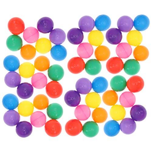 TOYANDONA 100Pcs 5. 5Cm Ball Pit Balls de Plástico para Niños Jugar a La Pelota Ocean Ball Bola Colorida Bolas de Plástico a Prueba de Aplastamiento Niños Pequeños Bebé Niños Piscina Tienda