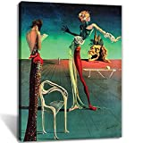Salvador Dali Wall Art Dalí Women with A Head of Rose Painting Canvas Home Decor (Dali,16x24inch-Unframed)