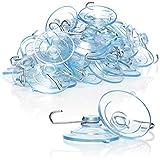 com-four® 40x Ventosa - Soporte Universal de ventosas con Gancho de Metal - Ventosas para Colgar Luces de Hadas, Toallas, Decoraciones (Ø 4.5cm - 40 Piezas)