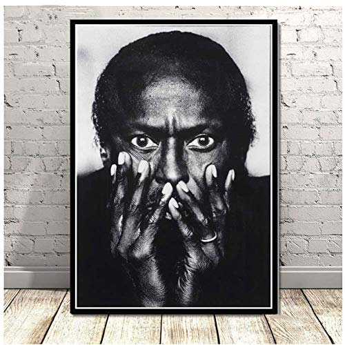 NRRTBWDHL Miles Davis Blue Jazz Musik Album Popstar Poster Wandkunst Ölgemälde Leinwand Wandbilder Für Wohnzimmer Wohnkultur-50x70 cm Kein Rahmen