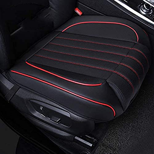 ZQTHL Car Seat Cover Cushion, Auto Bottom Front Driver & Passenger Seat Protector Pad with Leg Support Pillow /3D Edge Wrapping,for Most Vehicle,D,1PC