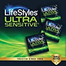 LifeStyles Ultra Sensitive Natural Feeling Lubricated Latex Condoms, Black, 40 Count (1746) #2