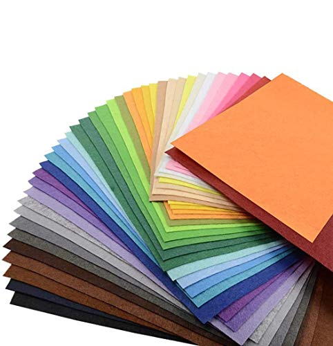Superise 60PCS 12'' x 8'' Craft Felt Fabric Sheets, Assorted Felt Sheets for Kids, DIY Sewing Crafts, Patchwork, School Projects, Decoration, 40 Assorted Colors Felt Pack