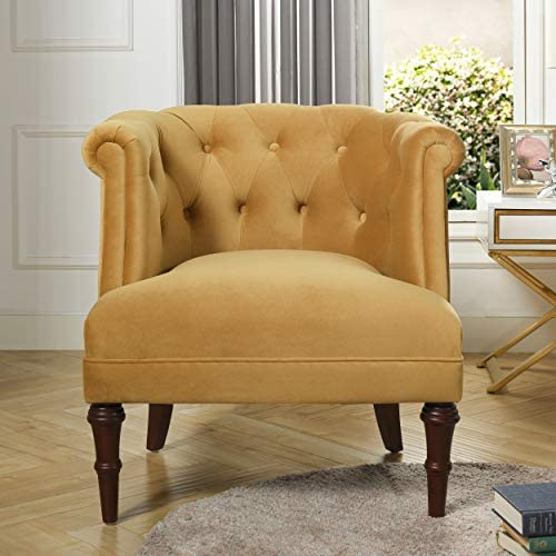 Best Jennifer Taylor Katherine Tufted Accent Chair, Large, Gold