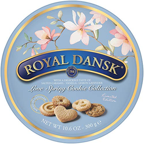 Royal Dansk Love Spring Cookie Collection oz tin, Assorted, 10.6 Ounce