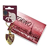 tex family Schlüsselanhänger vergoldet aus lackiertem Metall Torino Fußball FC und Torino Postkarte ist