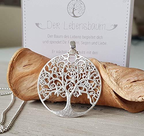 Schmuck Damen Halskette Lebensbaum 925 silber