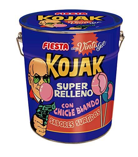 El producto contiene 150 unidades de Kojak. Caramelos con palo en forma de corazón sabor cola, mora pintalenguas, sandía y helado de fresa. Ideal para compartir y regalar. AUTÉNTICOS: ¿Sabías que fuimos los primeros en meterle chicle a un caramelo y ...