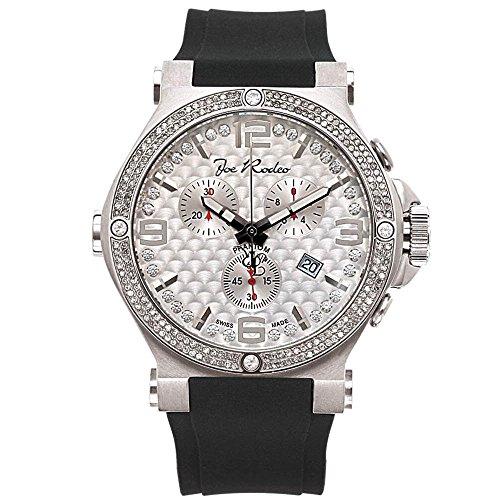 Joe Rodeo Reloj de hombre Diamond - Phantom Silver 2.25 ctw